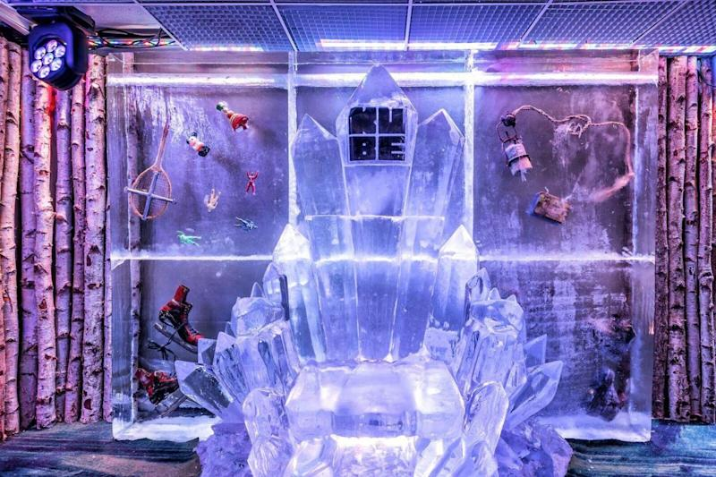 How many hotels have you stayed in that have an inhouse ice bar? (Kube Bar & Hotel)