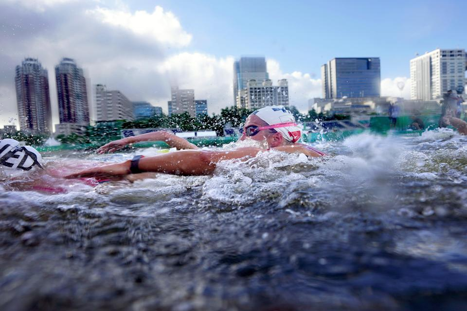 Tokyo Olympics Marathon Swimming (Copyright 2021 The Associated Press. All rights reserved)