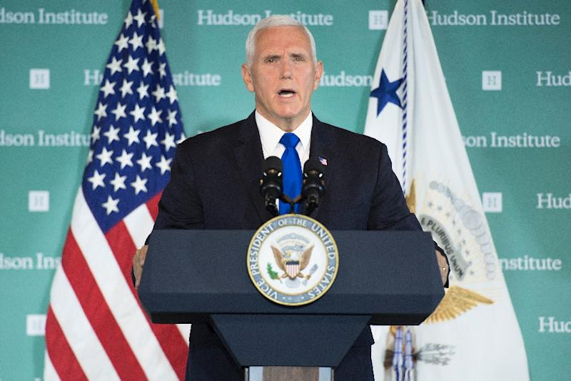 US Vice President Mike Pence lashes out at China in a speech accusing it of seeking to turn US President Donald Trump out of office