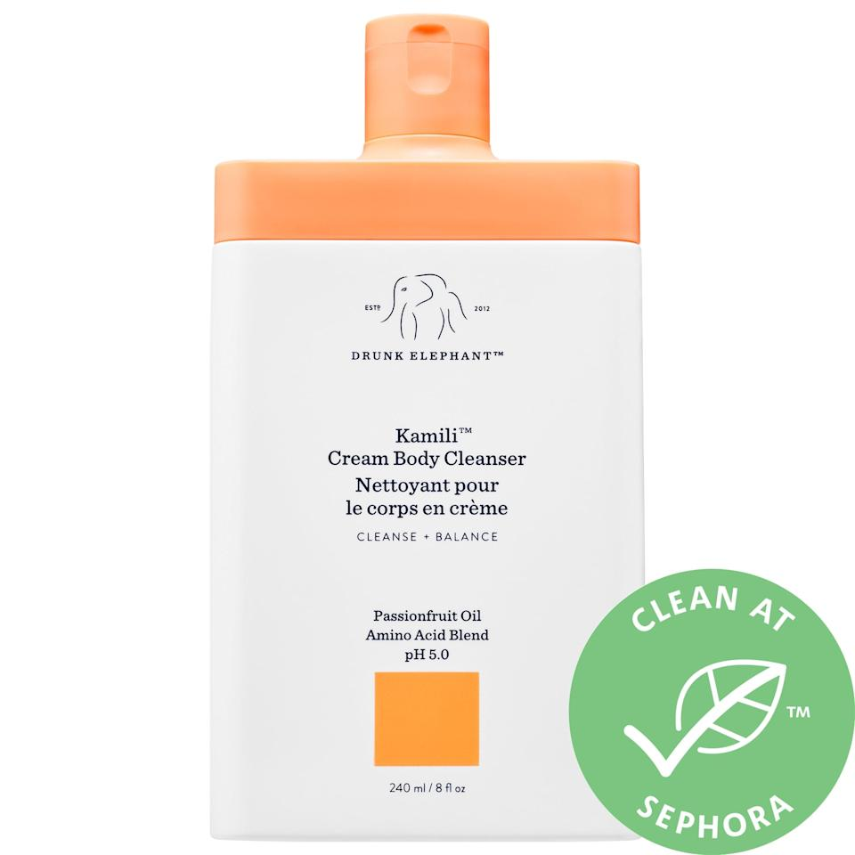"<p>This <product href=""https://www.sephora.com/product/drunk-elephant-kamili-cream-body-cleanser-P457686?icid2=use%20it%20with:p457686:product"" target=""_blank"" class=""ga-track"" data-ga-category=""internal click"" data-ga-label=""https://www.sephora.com/product/drunk-elephant-kamili-cream-body-cleanser-P457686?icid2=use%20it%20with:p457686:product"" data-ga-action=""body text link"">Drunk Elephant Kamili Cream Body Cleanser</product> ($20) smells amazing.</p>"