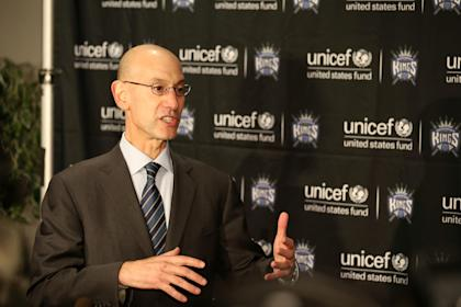 NBA Commissioner Adam Silver favors a cap-smoothing plan. (Kelley L Cox-USA TODAY Sports)