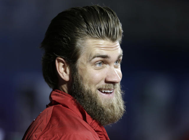 The White Sox might be working on their free-agent pitch to Bryce Harper. (AP Photo)