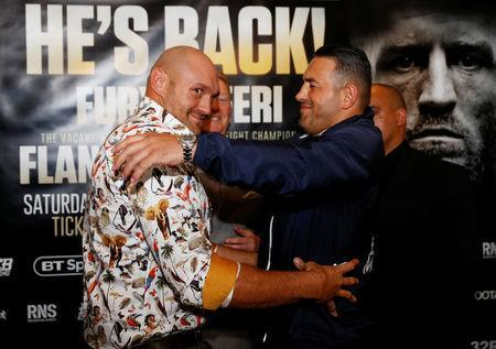 Boxing - Tyson Fury & Sefer Seferi Press Conference - The Midland Hotel, Manchester, Britain - June 6, 2018 Tyson Fury and Sefer Seferi after the press conference Action Images via Reuters/Jason Cairnduff