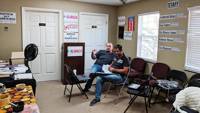Inside the headquarters of Alianza for Progress in Kissimmee, Florida.  (Carolina Moreno/HuffPost)