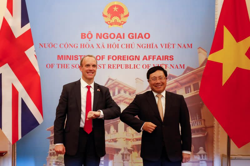 British Foreign Secretary Dominic Raab visits Vietnam