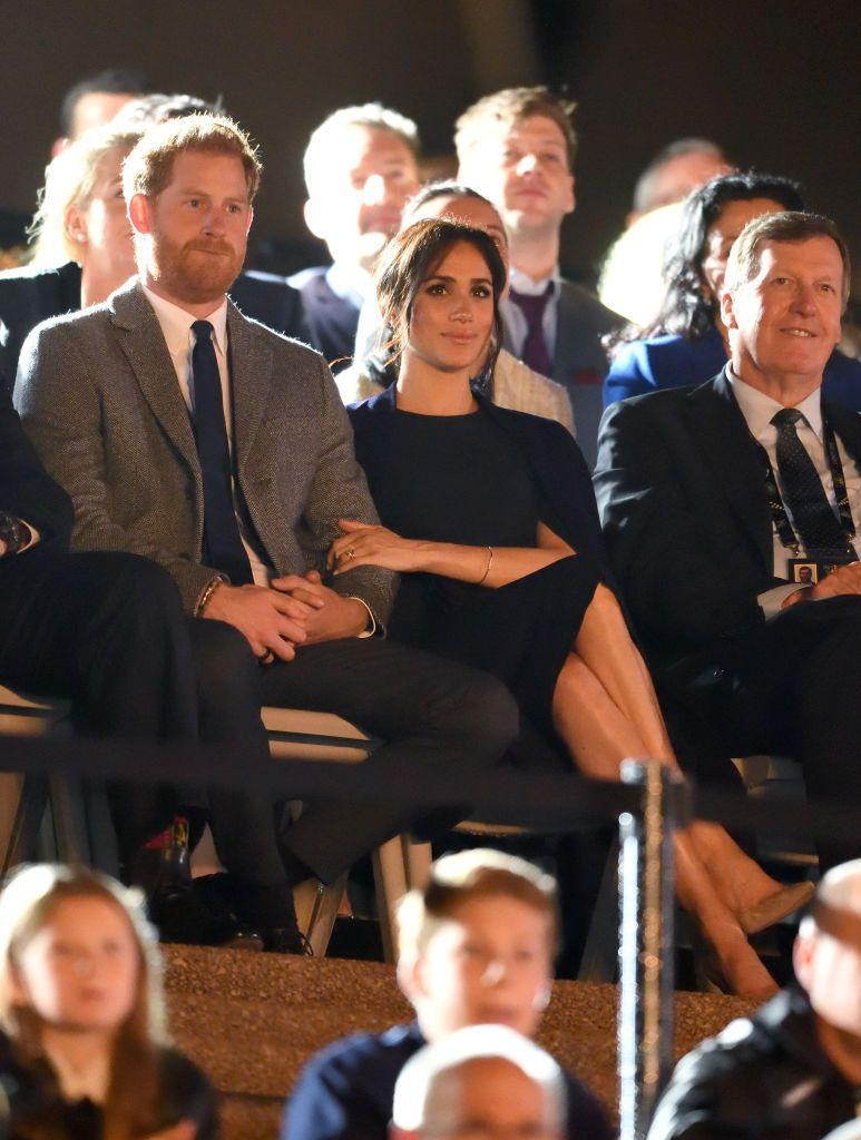 "<p>The Duke and Duchess of Sussex attended the opening of the Invictus Games in Sydney as a part of <a href=""https://www.townandcountrymag.com/society/tradition/g23936092/meghan-markle-prince-harry-australia-day-5-invictus-games-opening-ceremony-sydney-2018-photos/"" rel=""nofollow noopener"" target=""_blank"" data-ylk=""slk:their Royal Tour"" class=""link rapid-noclick-resp"">their Royal Tour</a>. </p>"