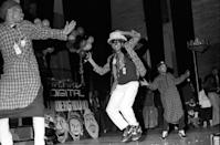 <p>Tupac Shakur, Shock G, Money-B, and Digital Underground at Newark Symphony Hall on April 10, 1990 in New Jersey.</p>