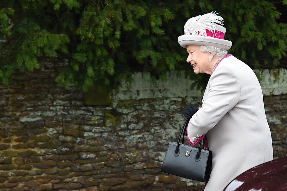 The Queen arrives for the annual Christmas Day Service [Photo: Getty]