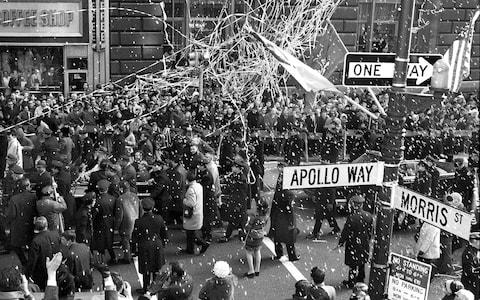 Space fever started in early 1969 with a ticker-tape parade in New York to celebrate the Apollo 8 astronauts – the first to reach the vicinity of the moon - Credit: GETTY IMAGES