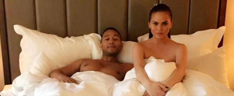 Chrissy Teigen and John Legend Prepped For the Met Gala by Hanging in Bed Naked