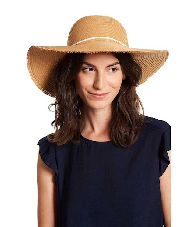 Oversize hat with small fringe trim. (Photo: San Diego/Nordstrom Rack)