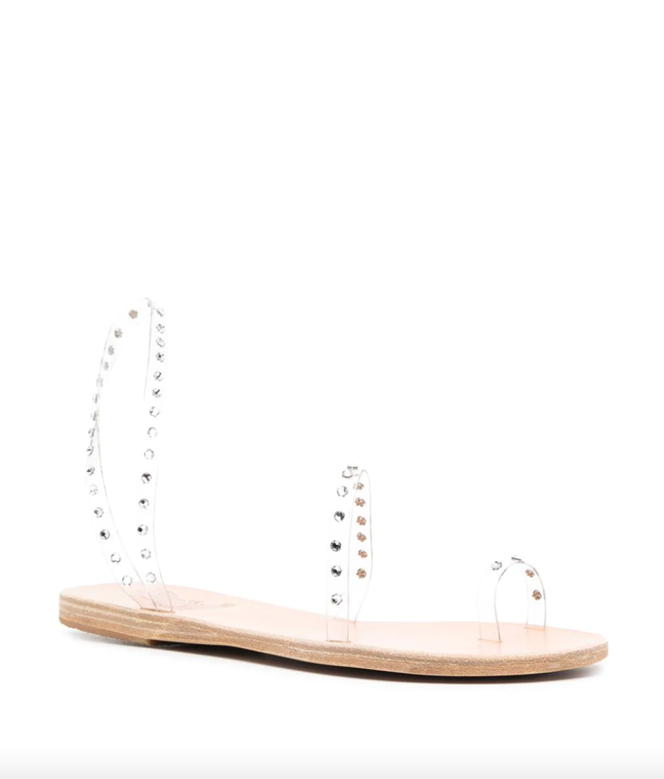 Ancient Greek Sandals Crystal Embellishment Sandals (Photo via Farfetch)