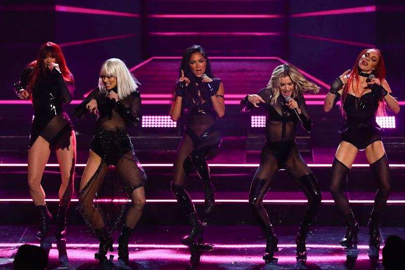The Pussycat Dolls - Jessica Sutta, Kimberly Wyatt, Nicole Scherzinger, Ashley Roberts and Carmit Bachar (Photo: Dymond/Thames/Syco/Shutterstock)