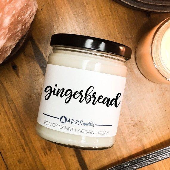 "<p><strong>AtoZCandles</strong></p><p>etsy.com</p><p><strong>Out of Stock</strong></p><p><a href=""https://www.etsy.com/listing/606547828/gingerbread-candle-gingerbread-cookie"" rel=""nofollow noopener"" target=""_blank"" data-ylk=""slk:BUY NOW"" class=""link rapid-noclick-resp"">BUY NOW</a></p><p>Thanks to this candle, you can go vegan without giving up dessert.</p>"