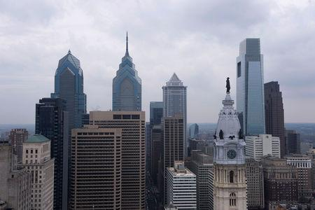 FILE PHOTO: A view of the downtown skyline in Philadelphia
