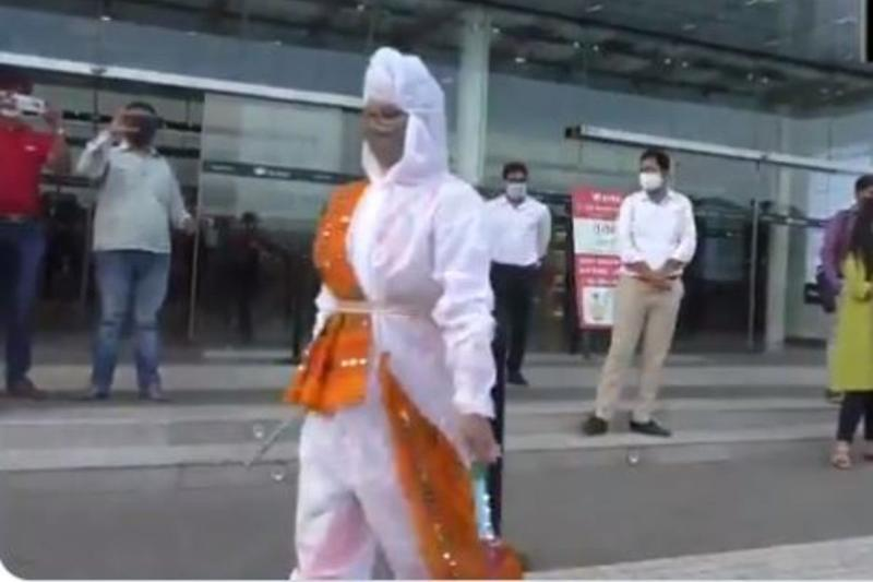 Watch: Surat's Fashion Students Design Unique Garba Costume with PPE Kit