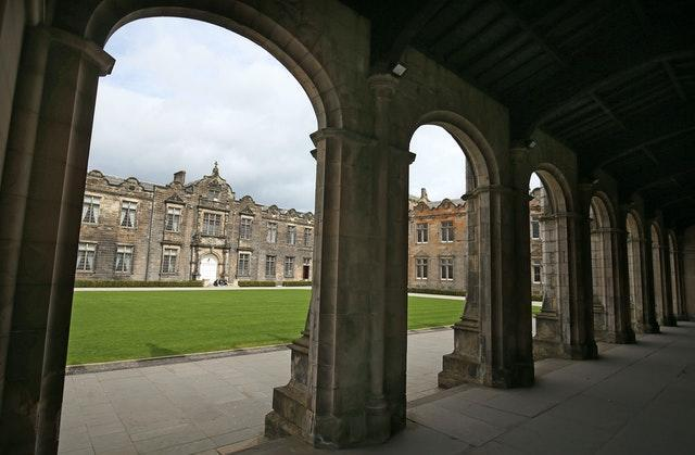 The Lower and Upper College Halls at the University of St Andrews, Scotland (Jane Barlow/PA)