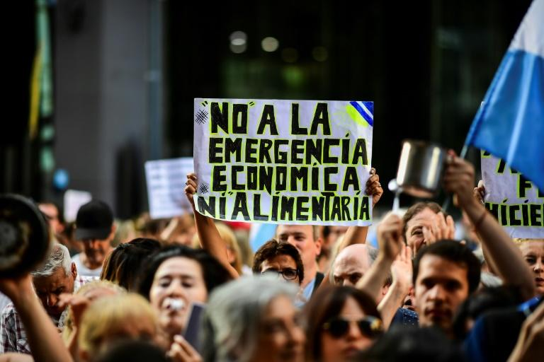Alberto Fernandez has been Argentina president for just over a week and already he faces protests against his policies (AFP Photo/RONALDO SCHEMIDT)