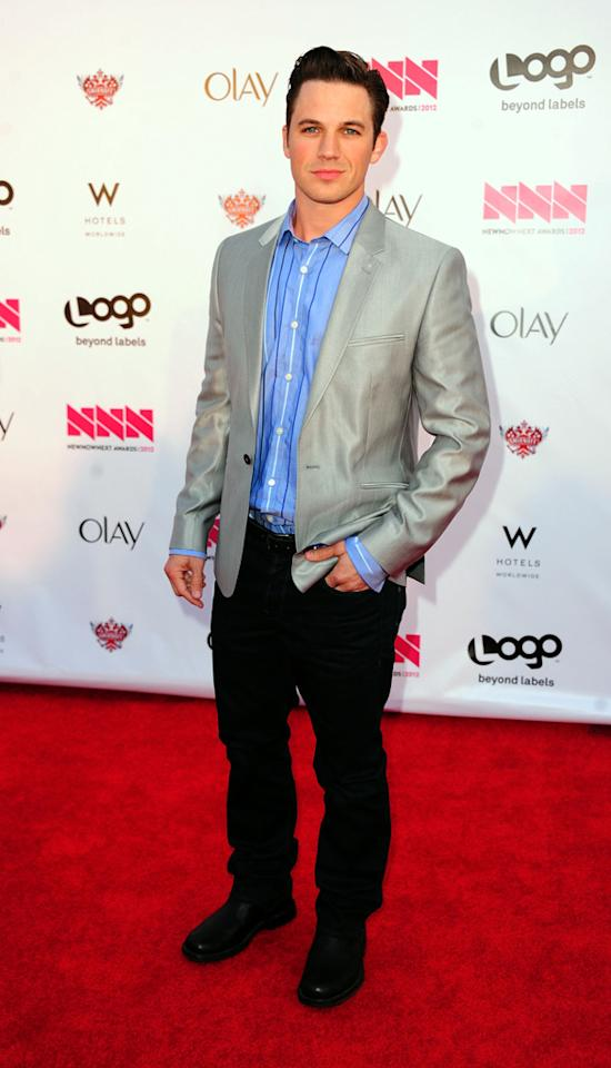 Matt Lanter arrives at LOGO's NewNowNext Awards at Avalon on April 5, 2012 in Hollywood, California.