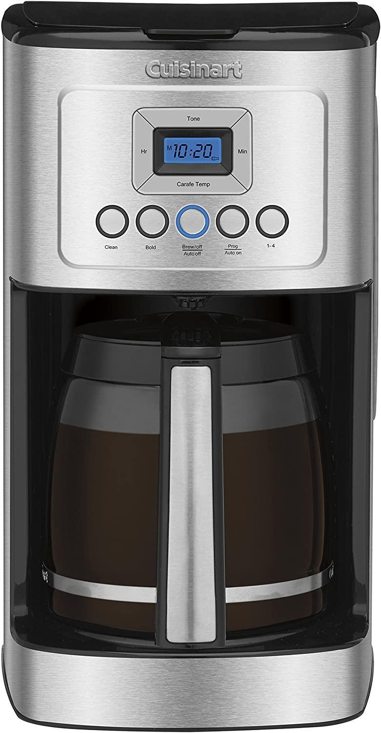 "<h3>Some Discounted Goods for the Kitchen...</h3><br><h2>55% Off Cuisinart Perfectemp Programmable Coffee Maker</h2><br>Score a whopping 55% off this top-rated 14-cup coffee maker from Cuisinart that employs state-of-the-art technology to brew you a top-notch cup of coffee at the strength (and temperature) of your choosing — whenever you choose it. <br><br><strong>Cuisinart</strong> Perfectemp Coffee Maker, 14 Cup, $, available at <a href=""https://amzn.to/3lnWxJk"" rel=""nofollow noopener"" target=""_blank"" data-ylk=""slk:Amazon"" class=""link rapid-noclick-resp"">Amazon</a>"