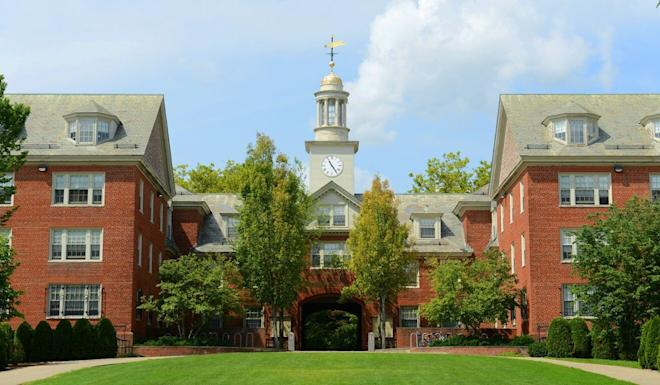 Wayland Hall in Brown University, Rhode Island. Photo: Shutterstock