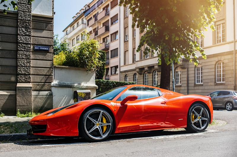 Lujoso Ferrari. Foto: Getty