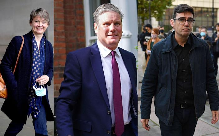 Yvette Cooper, Sir Keir Starmer and Andy Burnham - Yui Mok/PA Wire, Jacob King/PA Wire