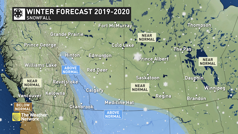 Winter forecast western snowfall