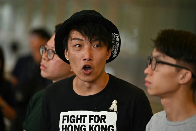 Civil Human Rights Front  member Jimmy Sham was left bloodied after being attacked in Hong Kong