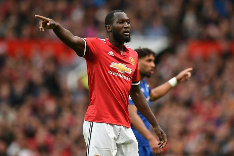"Manchester United's Belgian striker Romelu Lukaku, pictured here at a match in Manchester, asked fans to ""move on"" from racist chants"