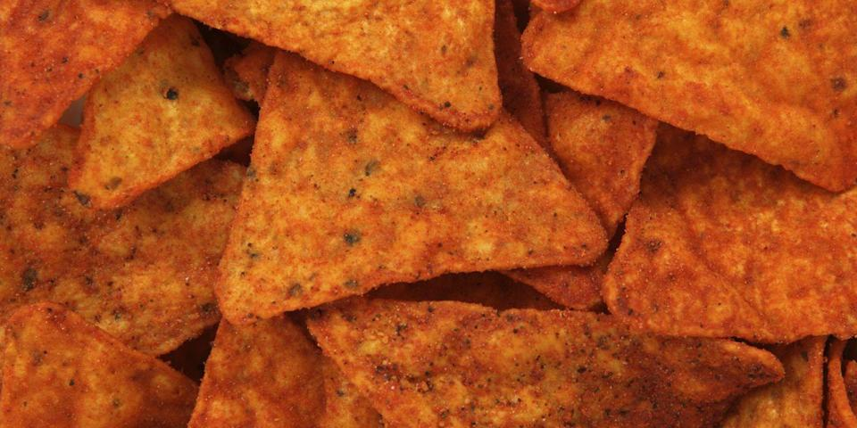 """<p>The name of these addictive chips is derived from the word """"Doradito,"""" meaning """"little bits of gold."""" Maybe <a href=""""/food/a42773/things-you-didnt-know-about-doritos/"""" data-ylk=""""slk:Doritos"""" class=""""link rapid-noclick-resp"""">Doritos</a> are more precious than we thought.</p>"""