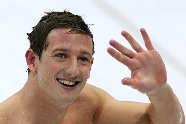 LONDON, ENGLAND - AUGUST 01: Michael Jamieson of Great Britain waves towards the fans after he finished second in the Final for the Men's 200m Breaststroke on Day 5 of the London 2012 Olympic Games at the Aquatics Centre on August 1, 2012 in London, England. (Photo by Adam Pretty/Getty Images)