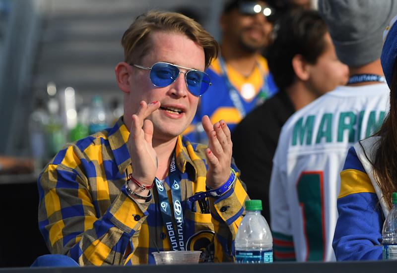 LOS ANGELES, CA - DECEMBER 29: Actor Macaulay Culkin attends the game between the Los Angeles Rams and the Arizona Cardinals at the Los Angeles Memorial Coliseum on December 29, 2019 in Los Angeles, California. (Photo by Jayne Kamin-Oncea/Getty Images)