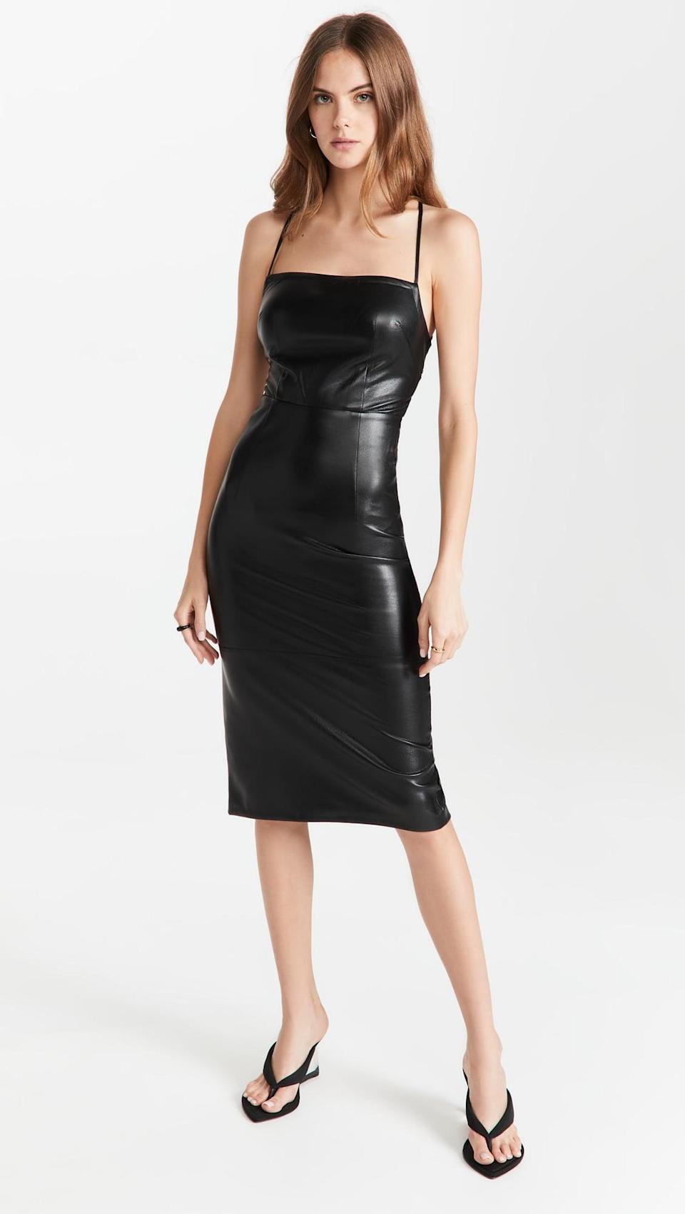 <p>As if this <span>Good American Vacay Dress</span> ($159) wasn't sexy enough, the back is completely strappy. In other words, sign us up.</p>