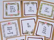 """<p><strong>suziescards</strong></p><p>etsy.com</p><p><strong>$6.00</strong></p><p><a href=""""https://go.redirectingat.com?id=74968X1596630&url=https%3A%2F%2Fwww.etsy.com%2Flisting%2F638599599%2Flunch-box-notes-lunch-box-cards-lunch&sref=https%3A%2F%2Fwww.countryliving.com%2Fshopping%2Fgifts%2Fg1416%2Fvalentines-day-gifts%2F"""" rel=""""nofollow noopener"""" target=""""_blank"""" data-ylk=""""slk:Shop Now"""" class=""""link rapid-noclick-resp"""">Shop Now</a></p><p>Slip these notes, featuring four different fun phrases, into your kids' lunches—it's a surefire way to brighten their afternoon!</p>"""