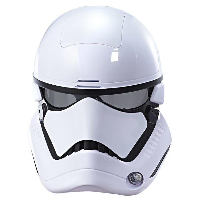 "<p>""Pretend to battle as a First Order Stormtrooper with this electronic mask that amplifies your voice with the push of a button! Imagine marching alongside the First Order with this iconic mask from <em>Star Wars: The Last Jedi</em>."" $34.99 (Photo: Hasbro) </p>"