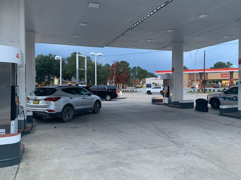 Where the vehicle ended up after crossing the street | Slidell Police Department