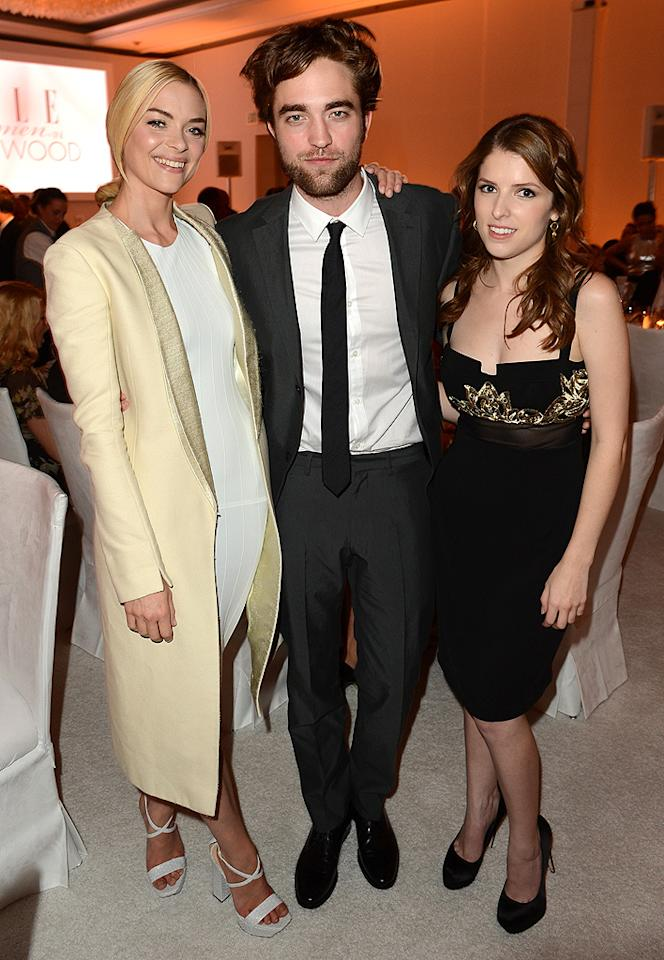BEVERLY HILLS, CA - OCTOBER 15:  (L-R) Actors Jaime King, Rob Pattinson and Anna Kendrick attend ELLE's 19th Annual Women In Hollywood Celebration at the Four Seasons Hotel on October 15, 2012 in Beverly Hills, California.  (Photo by Jason Merritt/WireImage)