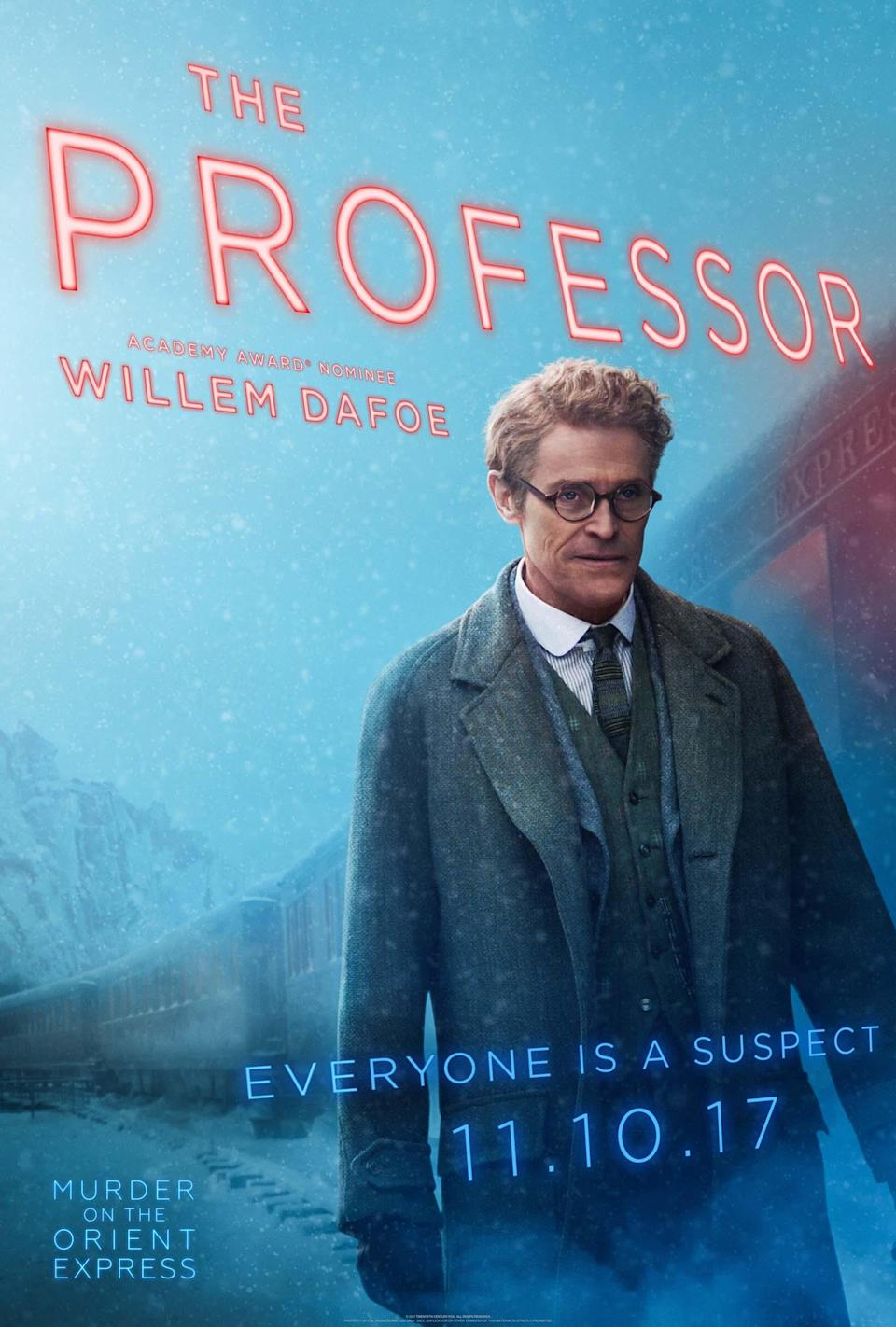 "<p>The onetime Green Goblin plays an Austrian professor. ""He is furtive and appears to be armed in a number of ways,"" Branagh says.</p>"