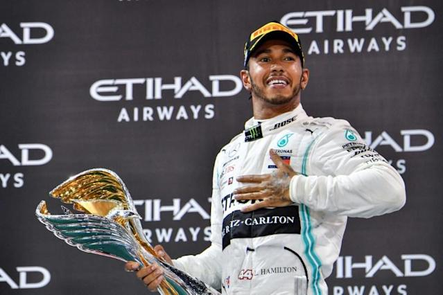 Lewis Hamilton is hoping to equal Michael Schumacher's record of seven titles in 2020 (AFP Photo/GIUSEPPE CACACE)