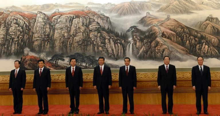 Since the Communists took power in 1949, no woman has ever been appointed to its Politburo Standing Committee, the nation's top decision-making body, seen here in 2012