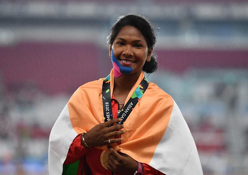 Swapna Barman spoke after winning the regional Olympics title on Thursday of how her rare deformity caused agonising pain with each step in her final event, the 800m