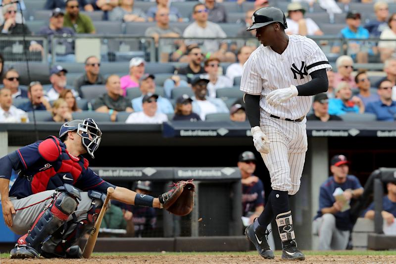 Didi Gregorius set the Yankees' shortstop record for homers, but before rounding the bases, he apologized to Jason Castro. (Getty Images)