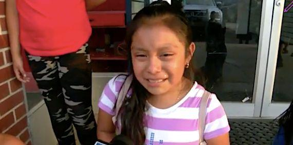 Weeping Girl Left Abandoned By ICE Pleads With 'Government' To 'Let My Parents Be Free'
