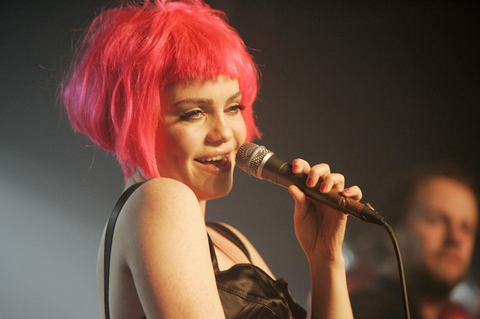 Duffy performs live on stage at G-A-Y Heaven on Valentine's night in London.
