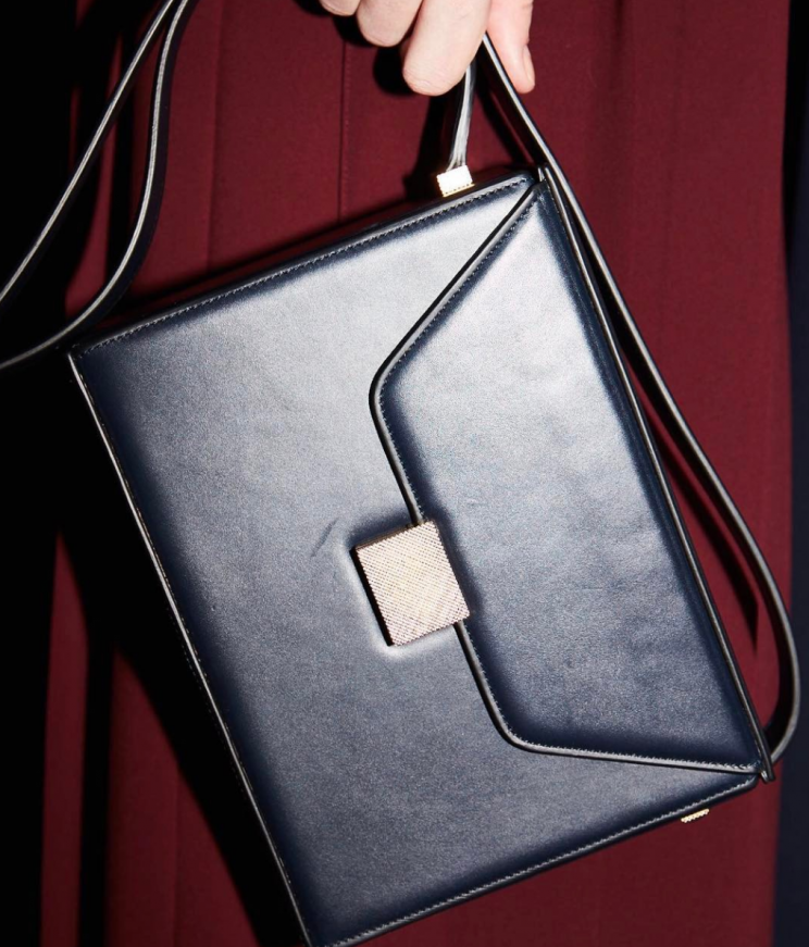 <i>Victoria's new bag style is inspired by a vintage beauty case [Photo: Instagram/victoriabeckham]</i>