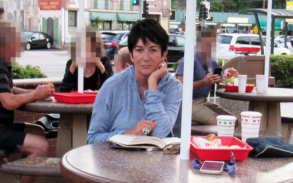 Ghislaine Maxwell posed for a picture at a burger joint in Los Angeles - MEGA