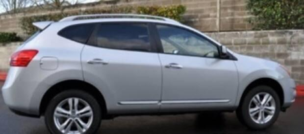 Police are looking for a 2012 silver Nissan Rogue similar to the one shown above with the Alberta licence plate CGH 3350.