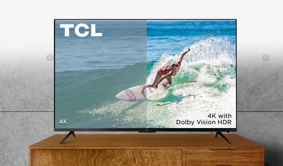 This TCL 4K TV is on sale at Amazon for $371 off! (Photo: Amazon)