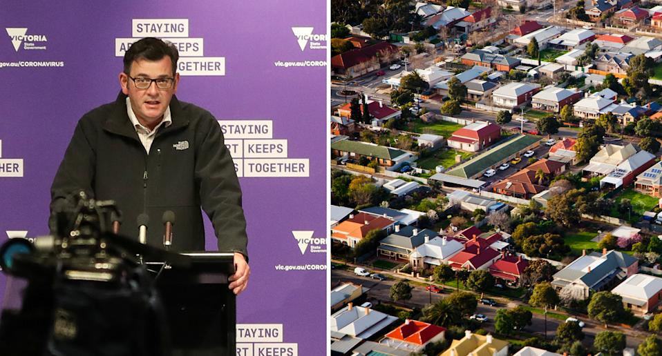 Daniel Andrews has eased restrictions on household visits. Source: Getty